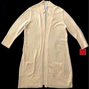 NWT Isaac Mizrahi For Target Long Cardigan Sweater